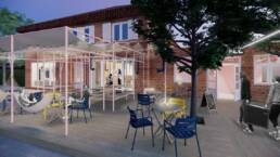 Entwurf von Carlotta Horstkamp & Charlotte Tennstedt - Außenbereich