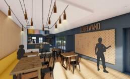 Entwurf von Frieda Arz & Emma Köhler - Cafébereich