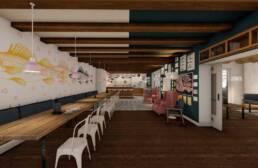 Entwurf von Julia Gronau & Niclas Thiry - Café