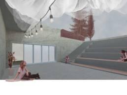 Entwurf von Nele Eisenbrecher und Jane Glißmann - Lichthofperspektive