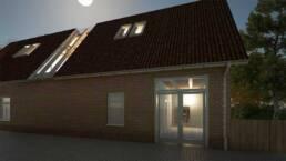 Entwurf von Ronja Arnold - Außenraumperspektive nachts